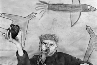 "Take off. From the photobook ""Asylum of the Birds"" © Roger Ballen"