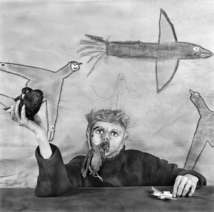 "Take off. From the photobook ""Asylum of the Birds"" © Roger Ballen"