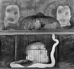 """Caged. From the series """"Asylum of the Birds"""" © Roger Ballen"""