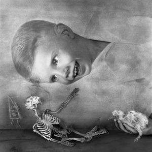 "Consolation. From the series ""Asylum of the Birds"" © Roger Ballen"