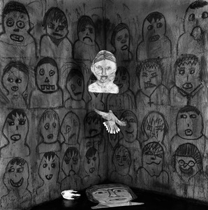 "Audience. From the series ""Asylum of the Birds"" © Roger Ballen"