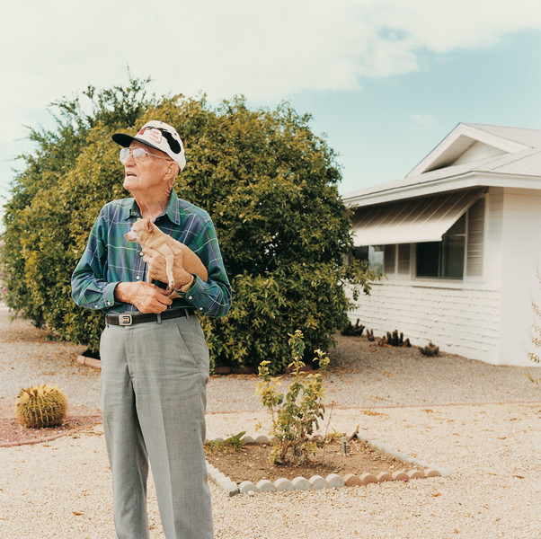 Man with a dog, from the series Sun City © Peter Granser