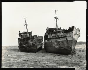 """© Radek Skrivanek, """"ALEXEY LEONOV"""" & her sister ship, abandoned fleet, Aral Sea"""