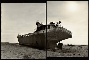 "© Radek Skrivanek, Stern of vessel ""GAGARIN"",abandoned fleet, Aral Sea"