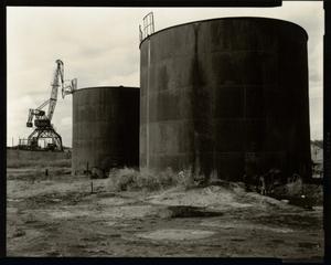 © Radek Skrivanek, Fuel storage tanks, abandoned port structures, Aral Sea