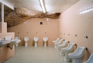 Male underground bathroom, Carlsbad Cavernes, USA 2006 © Wayne Barrar