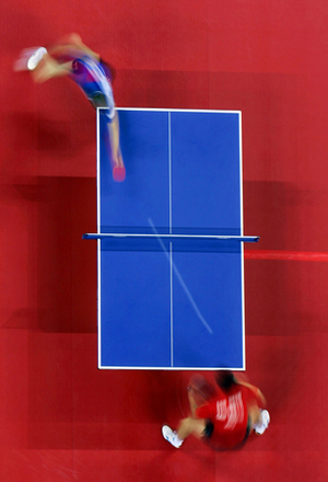 2nd prize Sports Action Stories<BR>© Donald Miralle, Jr, USA, Getty Images,<BR>Olympic Games portfolio<BR><BR>Hao Wang of China and Seung Min Ryu of Korea compete for the gold medal in men's singles table tennis.