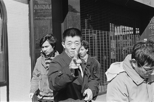 Gu Changwei, Chinese New Years on Mott Street, 1989. From New York Photographs, 1983-1993. © Ai Weiwei.