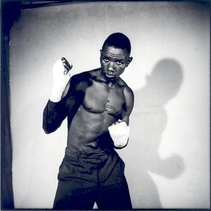 © Malick Sidibé, Boxer, 1966, gelatin silver print, 50 x 60 cm. Courtesy of Fifty One Fine Art Photography.