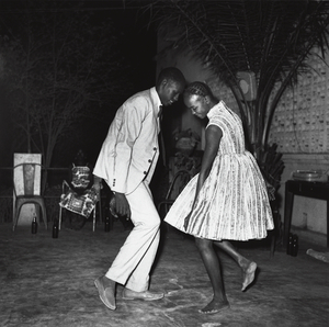 © Malick Sidibé, Christmas Eve, 1963, gelatin silver print, 50 x 60 cm. Courtesy of Fifty One Fine Art Photography.