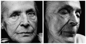 Klara Behrens. Age: 83.  Born: 2nd December 1920. First portrait taken: 6th February 2004. Died: 3rd March 2004. Photo © Walter Schels. Text © Beate Lakotta. All rights reserved.
