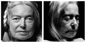 Edelgard Clavey. Age: 67. Born: 29th June 1936. First portrait taken: 5th December 2003. Died: 4th January 2004, at Helenenstift Hospice, Hamburg.   Photo © Walter Schels. Text © Beate Lakotta. All rights reserved.