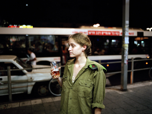 "Atalia outside a bar on Alenby Street, Tel Aviv, Israel, 2004. From the series ""Serial No. 3817131"" © Rachel Papo"