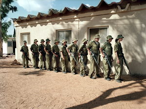 """Training to be military policemwomen, Beit Lid, Israel, 2004. From the series """"Serial No. 3817131"""" © Rachel Papo"""