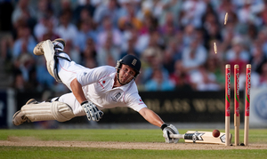 1st prize Sports Action Singles. © Gareth Copley, United Kingdom, Press Association. Englands Jonathan Trott is run out at the fifth Ashes test match, London, August