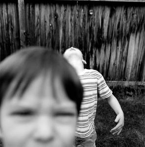 "Jefferson & John Thomas. Provo, UT. From the series ""Childhood Reveries""  © Brian Shumway"