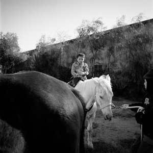 "Samantha (Horseback). El Centro, CA. From the series ""Childhood Reveries""  © Brian Shumway"