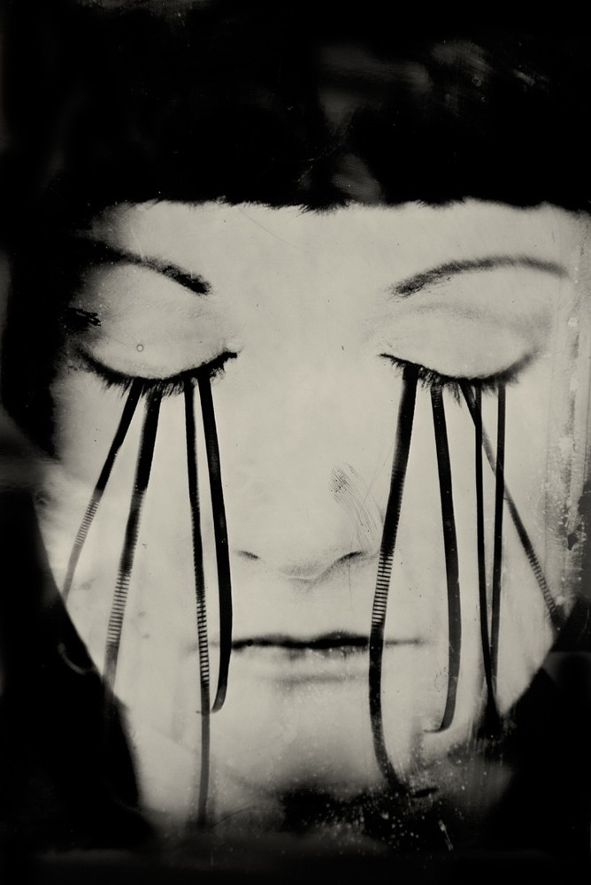 """The Response Delayed. 10""""x14"""" Tintype. From the series """"Soma"""" © Michelle Rogers Pritzl"""