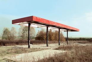"""Station #1, from """"Twentysix Abandoned Gasoline Stations"""" © Eric Tabuchi"""