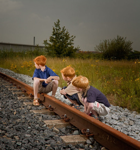 Grinsven family, from the series Natural Red Hair © Hanne van der Woude