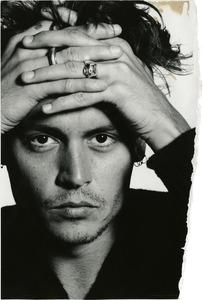 David BaileyUncharted – Johnny Depp, 1995 © David Bailey / Courtesy: Daniel Blau London/Munich, Paris Photo LA