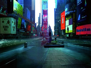 Kim Atta, ON-AIR Project 110-2, the New York series, Times Square, eight-hour exposure, 2005 © 313 Art Project, Paris Photo LA