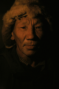 Chief herder Fedor Semenov.  Topolinoe. October, 2007© Evgenia Arbugaeva
