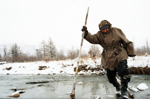 Grandfather Abaga. Topolinoe. November, 2005© Evgenia Arbugaeva