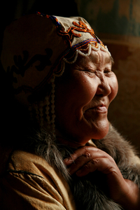 Grandmother Galya. Iengra. August, 2007 © Evgenia Arbugaeva