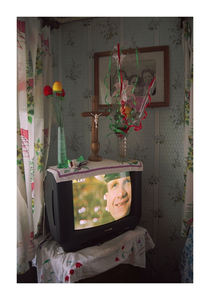 TV and family photo in the house of Antanina Kacuceviciene, June 2002 © Mindaugus Kavaliauskas