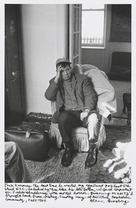 Jack Kerouac the last time he visited my apartment 704 East 5th Street N.Y.C., he looked by then like his late father, red-faced corpulent W. C. Fields shuddering with mortal horror, grimacing on D.M.T. Id brought back from visiting Timothy Leary at Millbrook Psychedelic Community, Fall 1964. © Allen Ginsberg