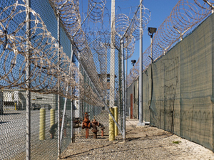 "Camp 4 Perimeter from ""If The Light Goes Out: Home from Guantanamo"" © Edmund Clark"