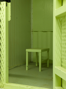 "Camp Delta Stool Cell from ""If The Light Goes Out: Home from Guantanamo"" © Edmund Clark"