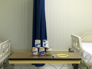 "Detainee Camp Hospital Force Feeding Display from ""If The Light Goes Out: Home from Guantanamo"" © Edmund Clark"