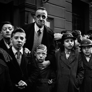 Schoolmaster with his children, Liverpool, England, 1952 © Philip Jones Griffiths