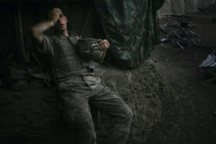 World Press Photo of the Year 2007 © Tim Hetherington, UK, for Vanity Fair. American soldier resting at bunker, Korengal Valley, Afghanistan, 16 September.