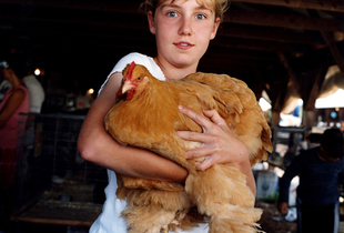 Norie With Hen © Dan Nelken, Till the Cows Come Home: County Fair Portraits