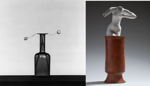 (left) Poppy, 1982 © Robert Mapplethorpe Foundation. Used by permission. (right) Assemblage: nu feminin debout dans un vase, vers 1900 © Paris, musee Rodin
