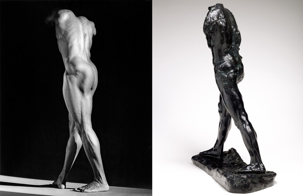 Michael Reed, 1987 © Robert Mapplethorpe Foundation. Used by permission. L'Homme qui marche, vers 1899 © Paris, Musee Rodin