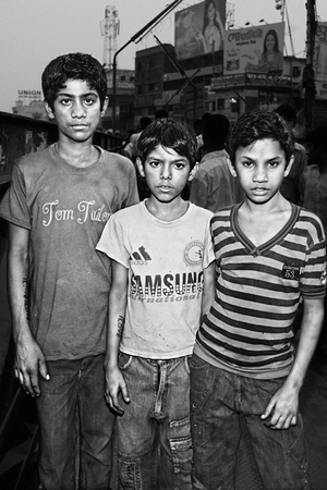 Mamun (15), Mamun (12), Morshed (12) We work in Jute Mill. When I grow up I want to be: a Hero (Mamun, 15); a Lawyer (Mamun, 12); an engineer (Morshed, 12) © Gazi Nafis Ahmed