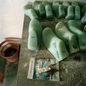 Foot molds in different sizes, Borovo shoe factory. © Colin Dutton
