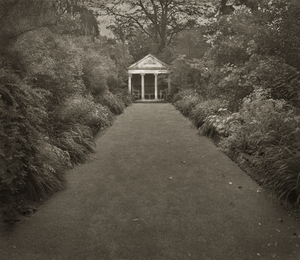 "Temple, The Courts, 18.5x16"" Platinum Palladium © Beth Dow"