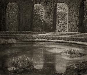 "Belvedere, Villa Gamberaia, 18.5x16"" Platinum Palladium © Beth Dow"