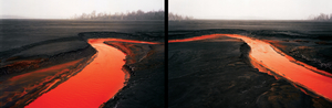 Nickel Tailings #34  #35 (Diptych), from the series Tailings © Edward Burtynsky, courtesy of Prix Pictet 2008