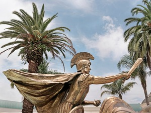 "Now, in the very same place, a statue of the Roman Emperor Caesar Augustus greets visitors to The Emperor's Palace Casino and Chariots Entertainment World. From the series ""Previously Significant Places"" © Graeme Williams, courtesy of Huis Marseille"