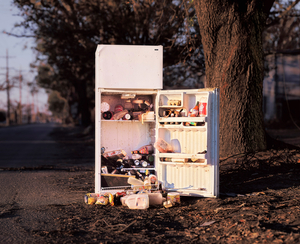 Refrigerator on Franklin Avenue, New Orleans, from In Katrina's Wake: Portraits of Loss from an Unnatural Disaster © Chris Jordan, courtesy of Prix Pictet 2008