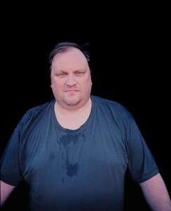 "A sweating man. From the exhibition ""Kainuu"" © Jussi Sarkilahti"