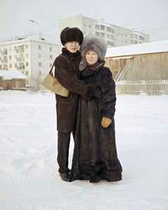 Zhenya and his pregnant fiancée, Mia. Yakutsk. Eastern Siberia, November 2004 From the book, Motherland, by Simon Roberts © Simon Roberts