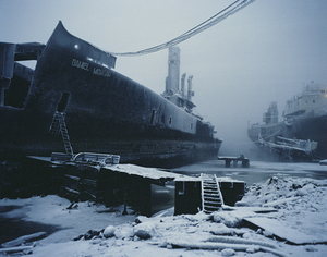 Abandoned warship in the Kola Bay. Murmansk. Northwestern Region, January 2005 From the book, Motherland, by Simon Roberts © Simon Roberts