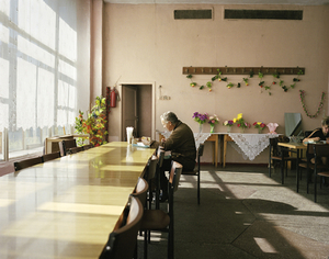 Dockworker in Petropavlovsk Port canteen. Kamchatka Peninsula. Far East Russia, October 2004 From the book, Motherland, by Simon Roberts © Simon Roberts